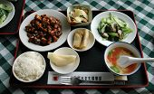 pic of chinese restaurant  - meal on tray in chinese restaurant beijing china - JPG