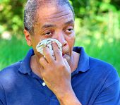 image of heatwave  - African american male enduring the summer heatwave in the usa - JPG