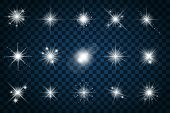 Shine stars with glitters and sparkles poster