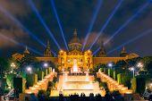 Light show and fountains, Placa Espanya, Barcelona poster