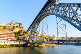 foto of dom  - view of Dom Luis I bridge in Porto - JPG