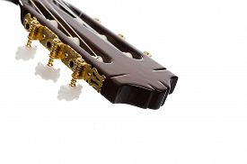 picture of pegging  - Close up of a classical guitar - JPG