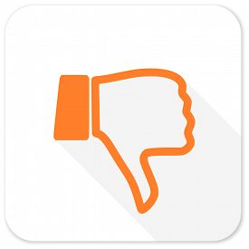 picture of dislike  - dislike flat icon - JPG