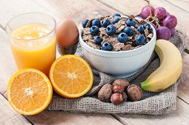 stock photo of continental food  - a continental breakfast  - JPG
