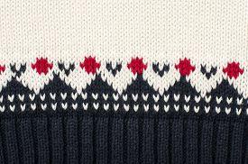 foto of motif  - Close up on winter motif knit woolen texture - JPG