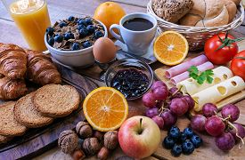 pic of continental food  - a continental breakfast  - JPG