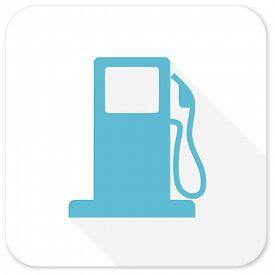 picture of petrol  - petrol blue flat icon - JPG