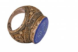 stock photo of ottoman  - This is a very old ring from Anatolia - JPG