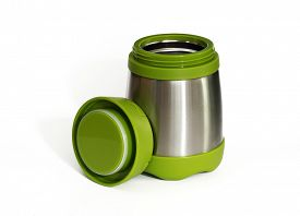pic of thermos  - Green thermos travel tumbler - JPG