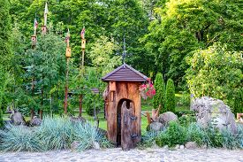 pic of safe haven  - Old wooden cabin in the park - JPG