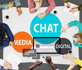 pic of chat  - Chat Media Digital Chatting Communication Connect Concept - JPG