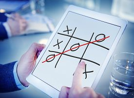 picture of tic  - Tic Tac Toe Game Competition XO Win Concept - JPG