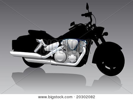 graphic motorcycle on Chrom