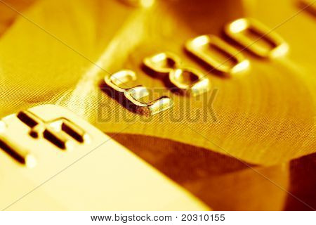 Close up of credit card.
