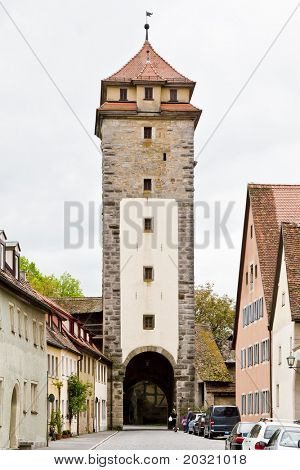 An image of the medieval town Rothenburg in Germany