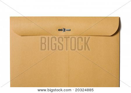 Back of a large closed envelope