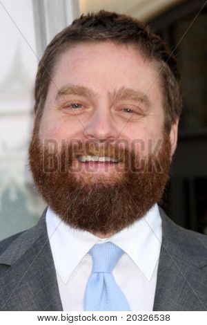"LOS ANGELES - MAY 19:  Zach Galifianakis arriving at the ""The Hangover Part II""  Premiere at Grauman's Chinese Theater on May 19, 2011 in Los Angeles, CA"
