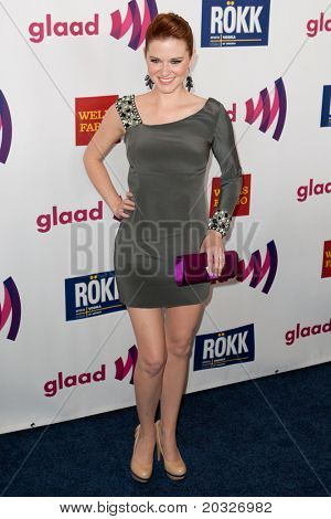 LOS ANGELES - APR 10: Sarah Drew arrives at the 22nd annual GLAAD Media Awards at Westin Bonaventure Hotel on April 10, 2011 in Los Angeles, CA.