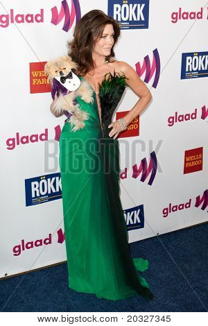 LOS ANGELES - APR 10: Lisa Vanderpump arrives at the 22nd annual GLAAD Media Awards at Westin Bonaventure Hotel on April 10, 2011 in Los Angeles, CA.