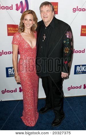 LOS ANGELES - APR 10: Marlee Matlin (L) and Meat Loaf (R) arrive at the 22nd annual GLAAD Media Awards at Westin Bonaventure Hotel on April 10, 2011 in Los Angeles, CA.