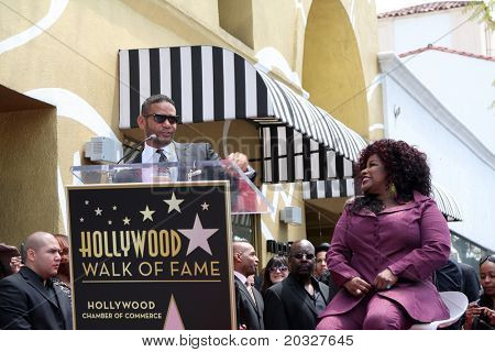 LOS ANGELES - MAY 19:  Benny Medina, Chaka Kahn at the Chaka Kahn Hollywood Walk of Fame Star Ceremony at Hollywood Blvd on May 19, 2011 in Los Angeles, CA.