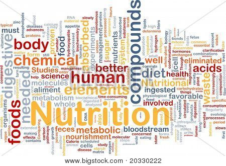 Background concept wordcloud illustration of nutrition food health