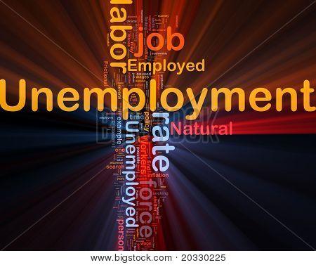 Background concept illustration unemployment job labor glowing light