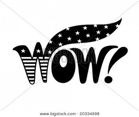 Patriotic Wow - Retro Clip Art Illustration