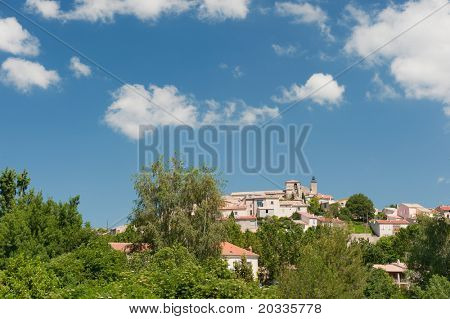 Romantic village Valensole at the Frence Provence