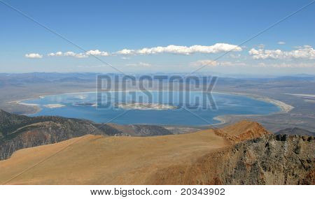 Mono Lake from Mt Dana.