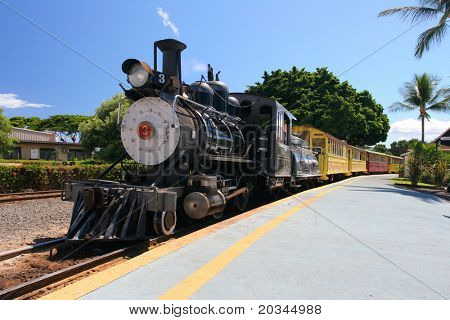Old Steam train in Maui, US