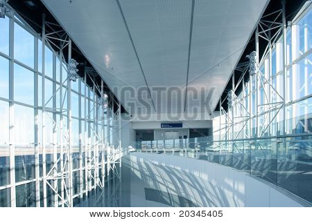 Futuristic Architecture in newly opened airport