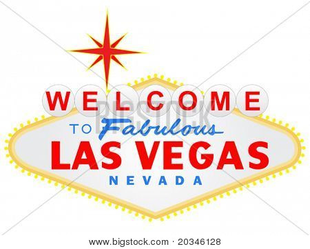 Welcome to Las Vegas vector illustration