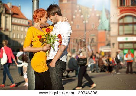 Schönes Paar am Tag