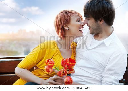 Sexy couple on a date