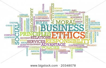 Business Ethics and Guidelines as a Concept Word Cloud