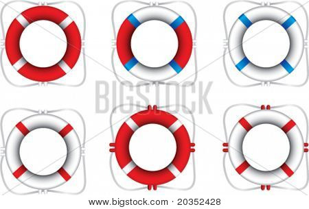Multiple colored life rings