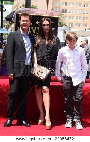 LOS ANGELES - MAY 23:  Simon Fuller, Victoria Beckham, Son Brooklyn Beckham at the Simon Fuller Hollywood Walk Of Fame Star Ceremony at W Hotel - Hollywood on May 23, 2011 in Los Angeles, CA