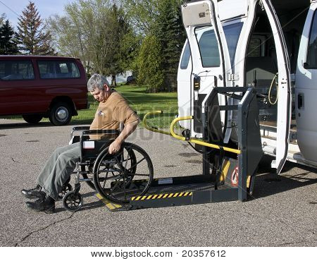 Handicapped Wheelchair Lift