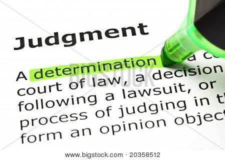 Judgment Definition