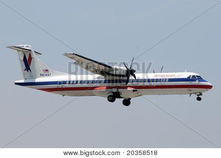 American Eagle Regional Turboprop Airplane