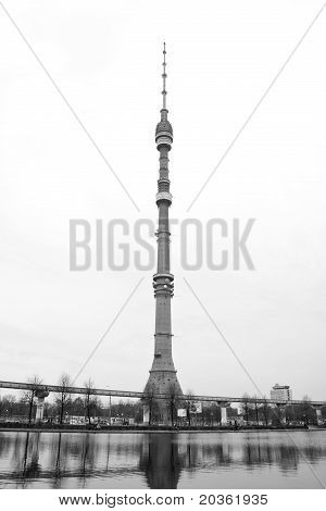 Television Tower Of Ostankino In Moscow