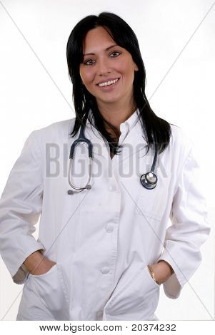 portrait of a young female doctor