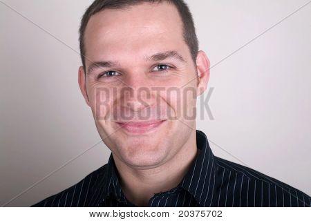 portrait of a handsome confident man