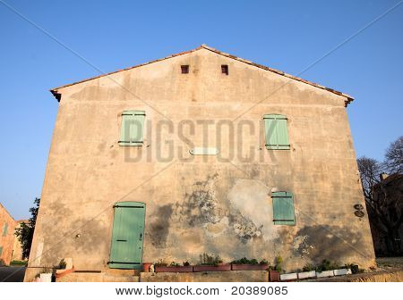 ,ilitary barracks in the Fort de L'Ile Sainte-Marguerite, Cannes, France