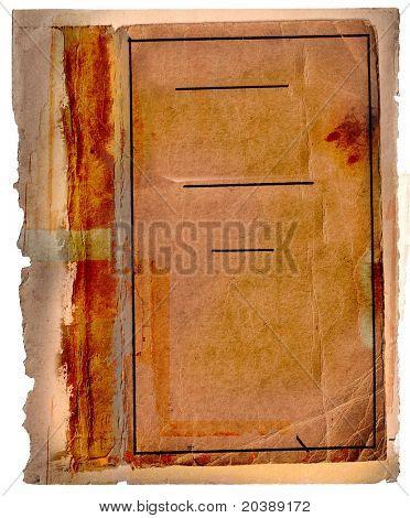 orange burnt edge book page