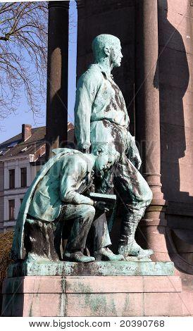 Bara monument in Tournai (Belgium)