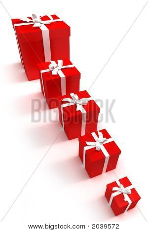Gift Boxes In A Row