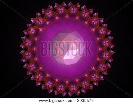 A Mandala With A Crystal