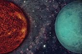 Solar System - Uranus. Elements Of This Image Furnished By Nasa. poster